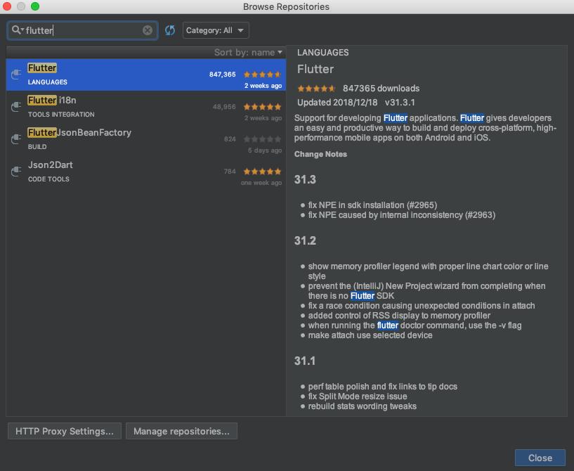 IntellijにFlutterのライブラリをインストールする方法